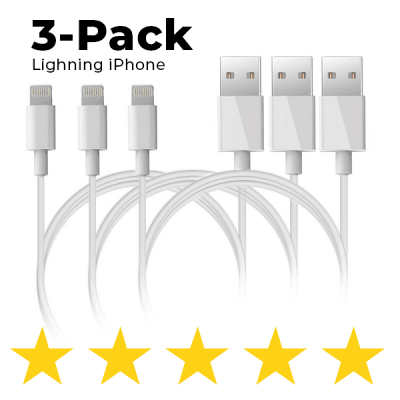 3-pack - salamalaite iPhone X / 8/7 / 6S / 6 / 5S / SE iOS12 1 m