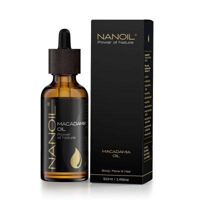 Nanoil Macadamia Oil 50 ml - Kasvoille, vartalolle ja hiuksille